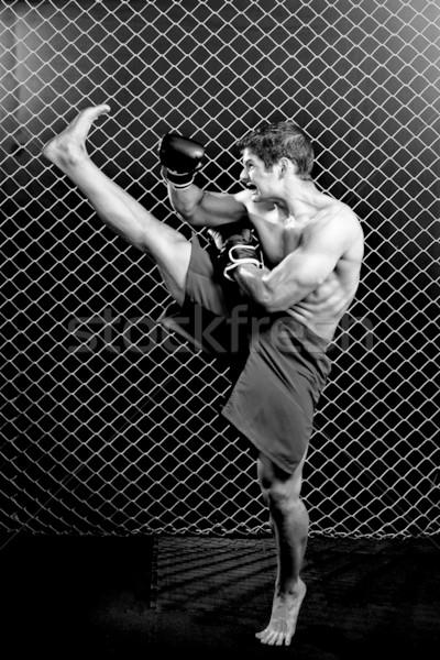 Gemengd kunstenaar keten link fitness sport Stockfoto © nickp37