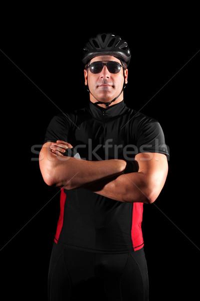 Foto d'archivio: Ciclista · sport · rosso · nero · persona · casco