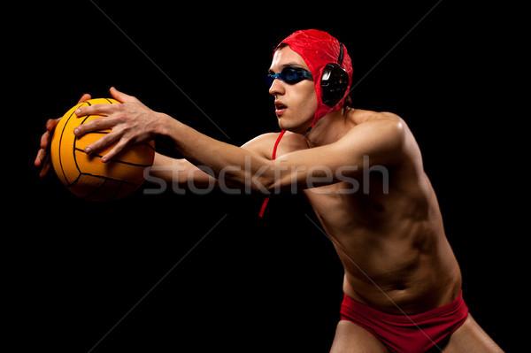 Sutopu oyuncu erkek siyah adam Stok fotoğraf © nickp37