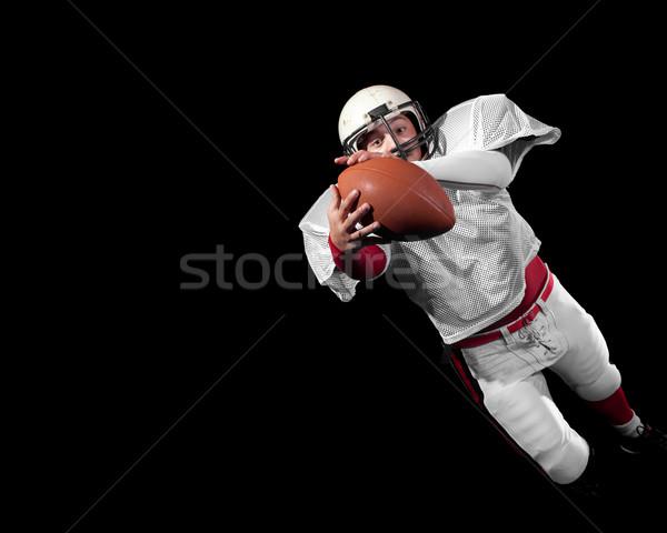Amerikai futballista férfi sport futball ugrás Stock fotó © nickp37