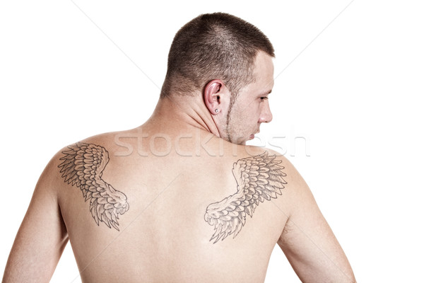 Stock photo: Man with tattoos