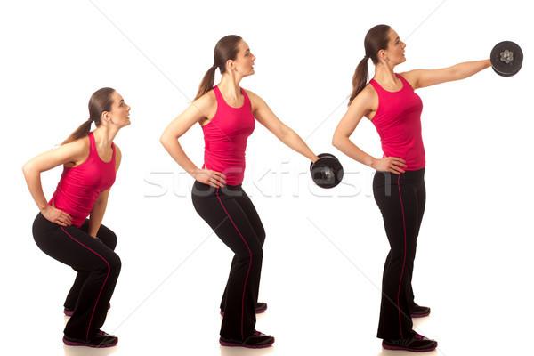 Elöl testmozgás stúdiófelvétel fehér nő stúdió Stock fotó © nickp37