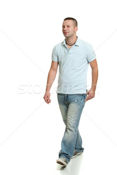 Casual homem pessoa masculino adulto Foto stock © nickp37