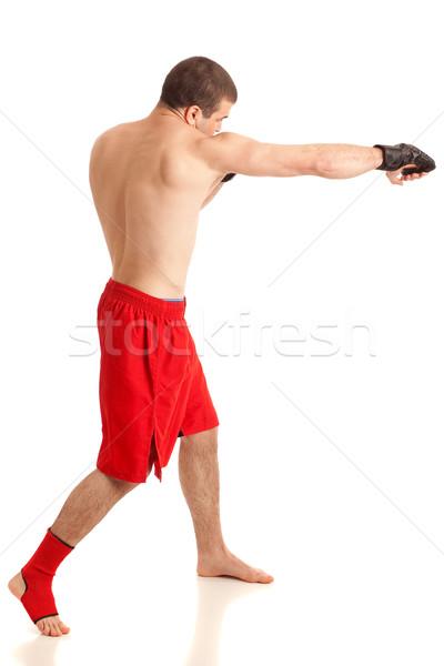 Karışık sanatçı beyaz adam uygunluk Stok fotoğraf © nickp37
