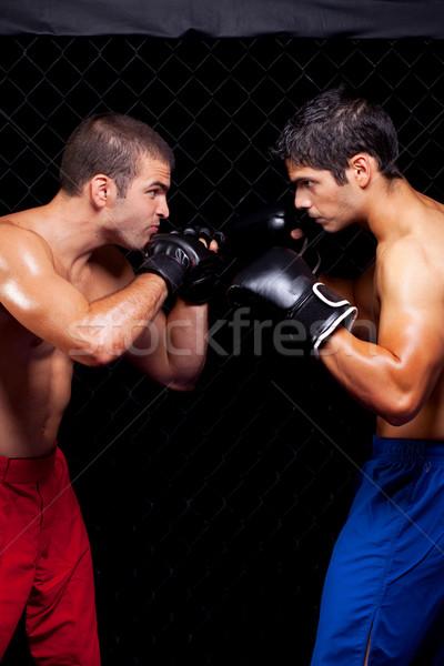 Misto esportes homens músculo lutar pessoa Foto stock © nickp37