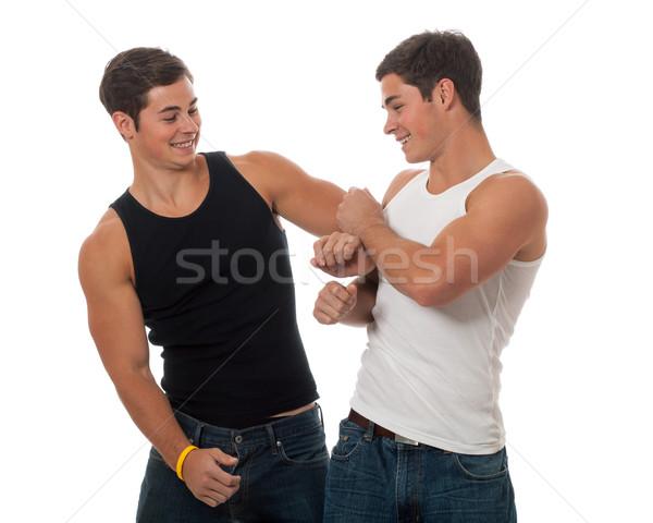 случайный близнецы близнец братья белый Сток-фото © nickp37