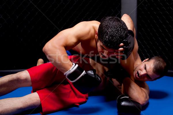 Misto esportes homens dor boxeador artes marciais Foto stock © nickp37