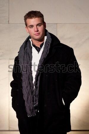 Inverno moda modelo branco pessoa masculino Foto stock © nickp37