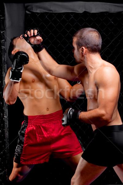 Gemengd vechten sport spier strijd mannelijke Stockfoto © nickp37