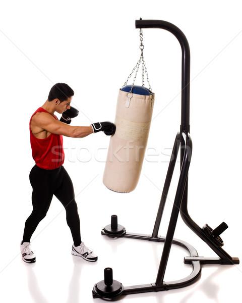 Heavy Bag Workout Stock photo © nickp37