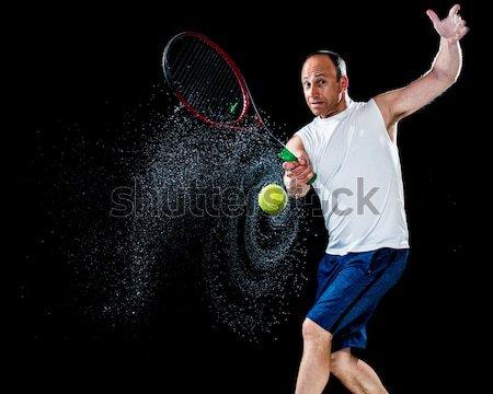 мужчины регби игрок черный человека Сток-фото © nickp37