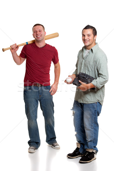 Two men with baseball Stock photo © nickp37