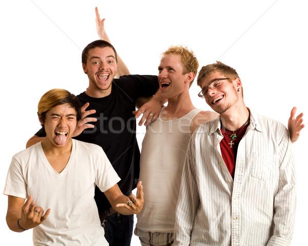 небольшая группа белый четыре мужчин Сток-фото © nickp37