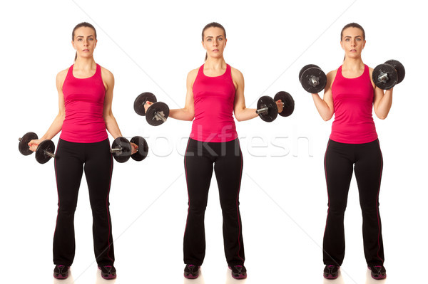 Stock photo: Bicep Curl