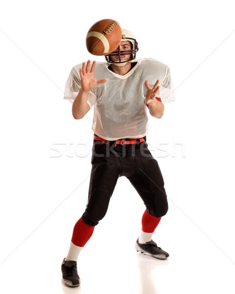 Сток-фото: американский · футболист · белый · человека · футбола
