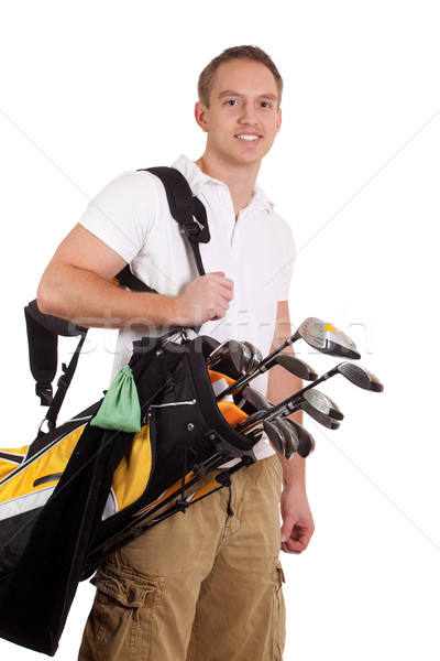 Jonge mannelijke golfer witte man Stockfoto © nickp37