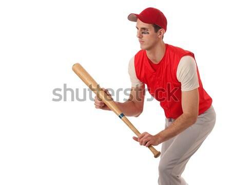 Cankurtaran erkek beyaz kırmızı Stok fotoğraf © nickp37