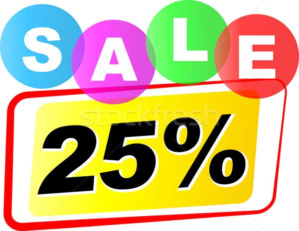 Vetor vinte cinco por cento venda ícone Foto stock © nickylarson974
