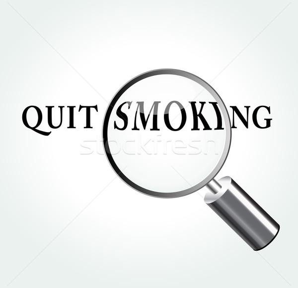 Vector quit smoking concept illustration Stock photo © nickylarson974
