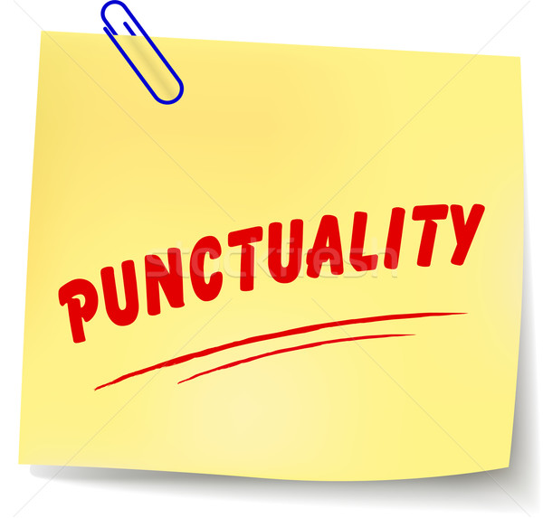 Vector punctuality message Stock photo © nickylarson974