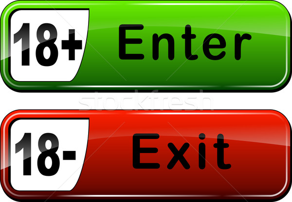 enter and exit web buttons Stock photo © nickylarson974