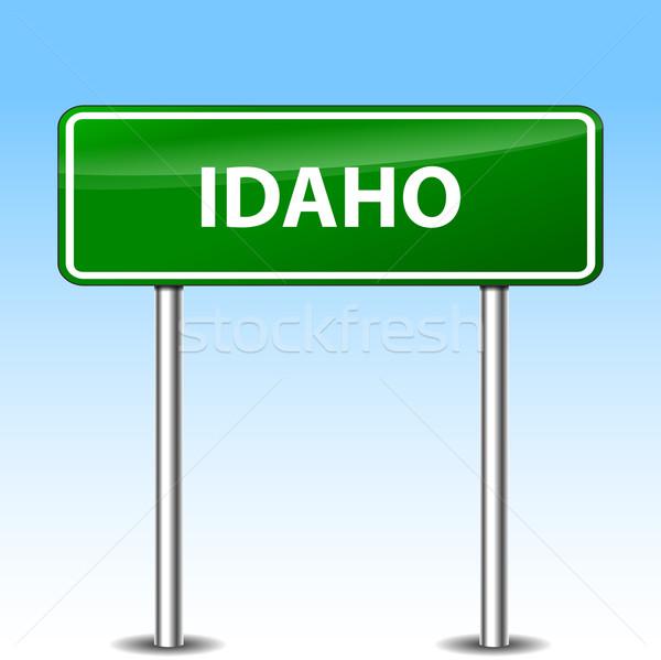 Idaho groene teken illustratie metaal verkeersbord Stockfoto © nickylarson974