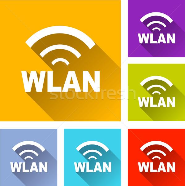 wlan icons Stock photo © nickylarson974