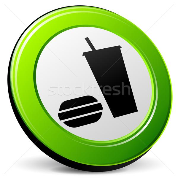 Gıda 3D ikon örnek beyaz dizayn Stok fotoğraf © nickylarson974