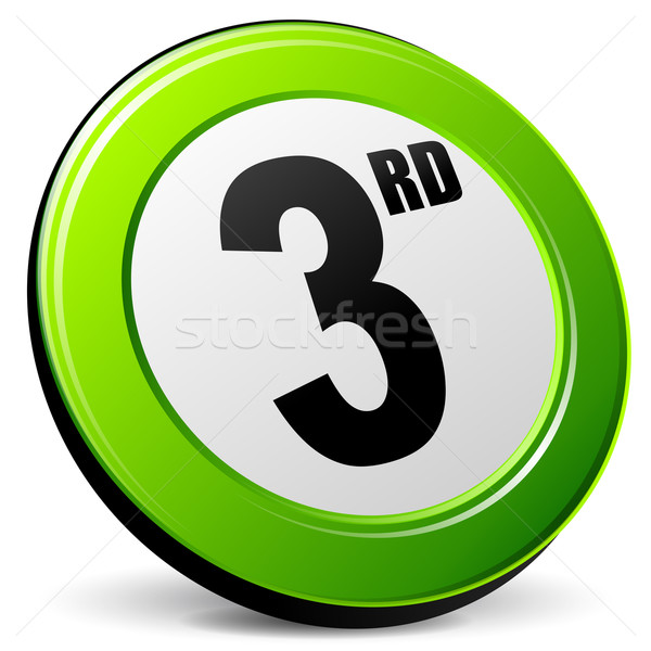 third 3d icon Stock photo © nickylarson974