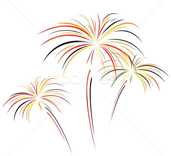fireworks on white background Stock photo © nickylarson974