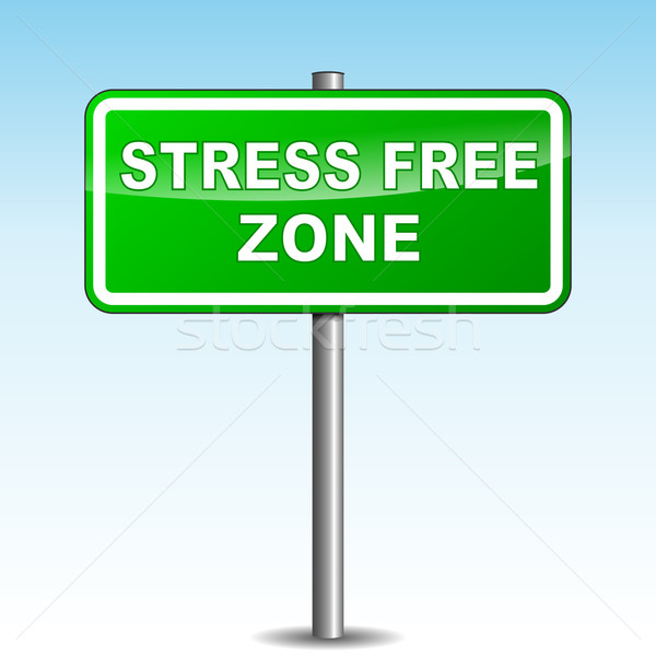 Vector stress free signpost Stock photo © nickylarson974