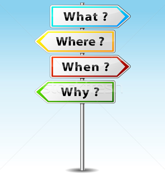 Stock photo: Vector questions signs