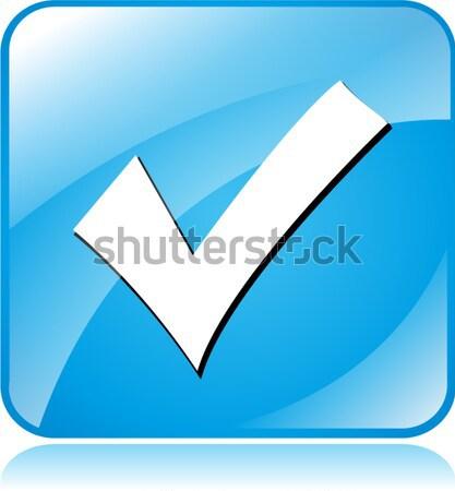 зеленый проверить икона иллюстрация белый Сток-фото © nickylarson974