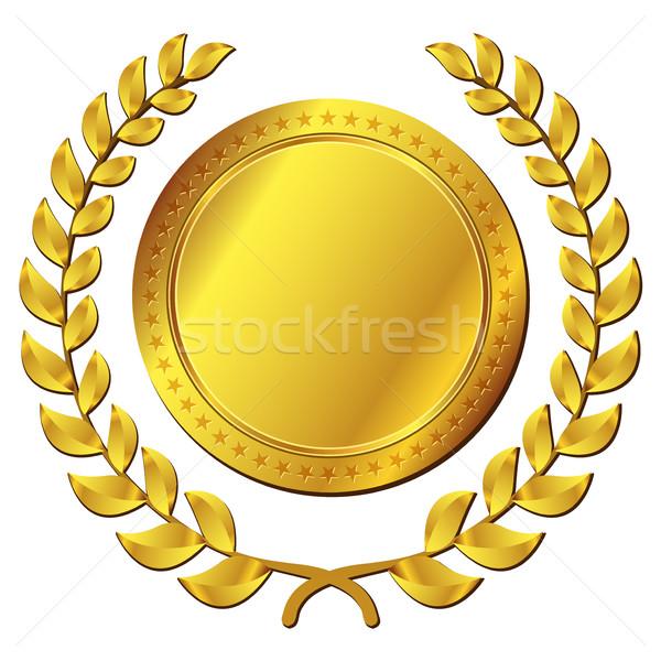 gold medal on white background Stock photo © nickylarson974