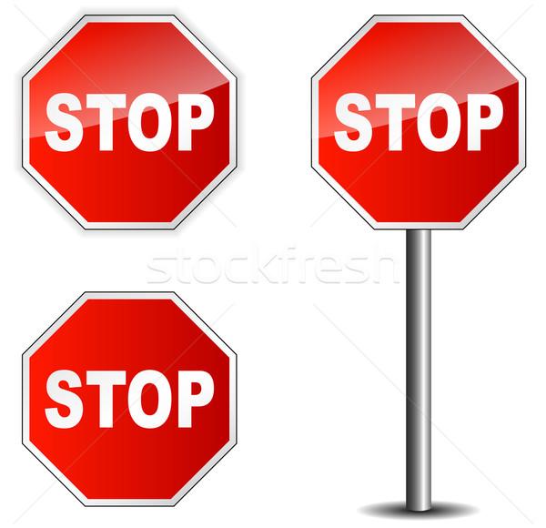 Signo tráfico parada calle fondo metal carretera Foto stock © nickylarson974