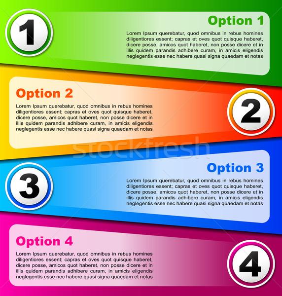 Four options background Stock photo © nickylarson974