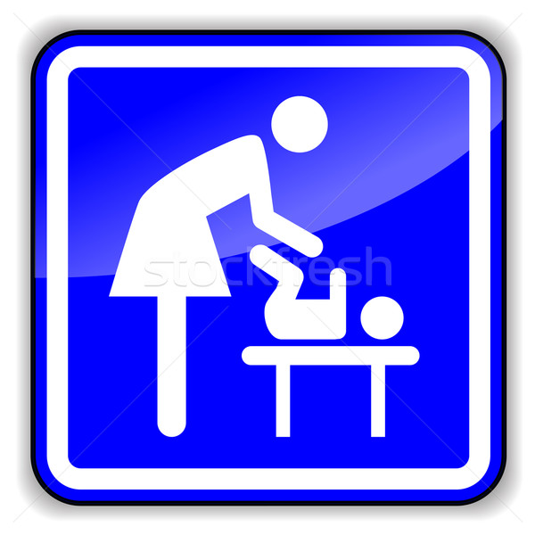 Vector baby changing icon Stock photo © nickylarson974