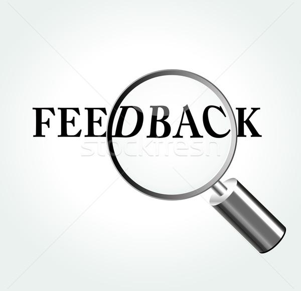 Vector feedback theme illustration Stock photo © nickylarson974