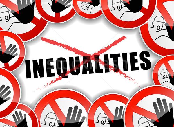 no inequalities abstract concept Stock photo © nickylarson974