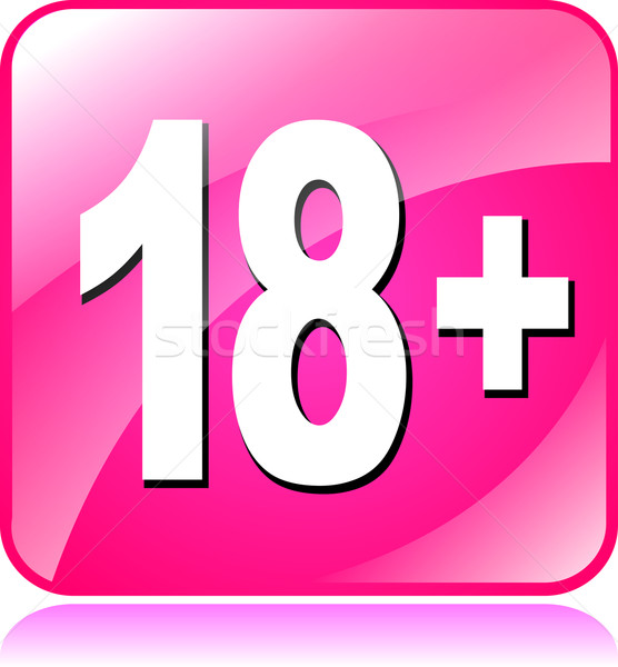 eighteen plus icon Stock photo © nickylarson974