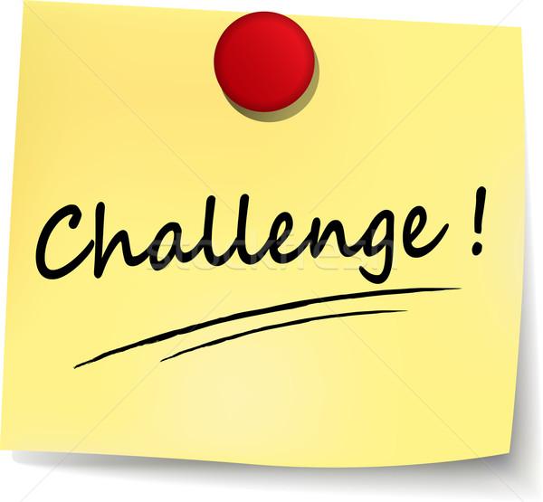 challenge yellow note Stock photo © nickylarson974