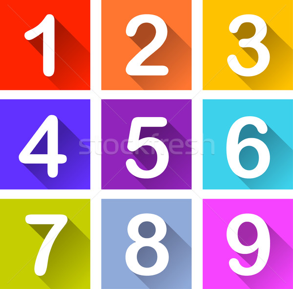 numbers coloful icons Stock photo © nickylarson974