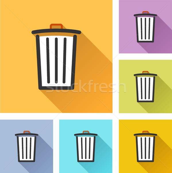 delete set icons Stock photo © nickylarson974