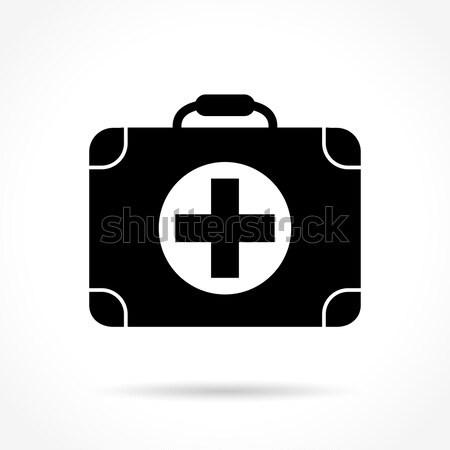 Medycznych walizkę ikona ilustracja biały zdrowia Zdjęcia stock © nickylarson974