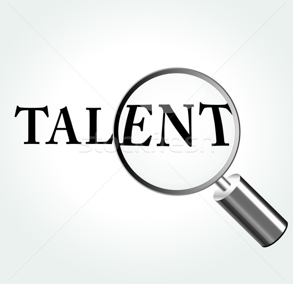 Vector talent illustration Stock photo © nickylarson974