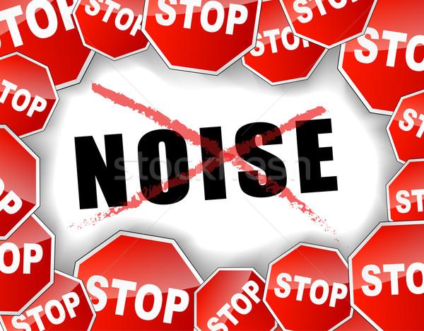 Pare ruído abstrato projeto assinar segurança Foto stock © nickylarson974