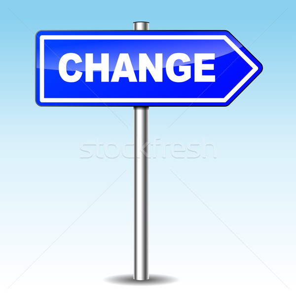 Vector change directional sign Stock photo © nickylarson974
