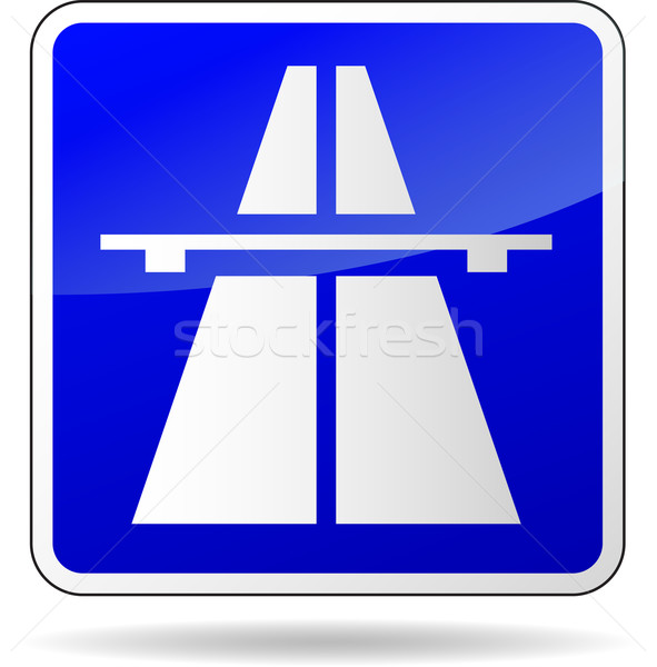 Stock photo: Vector freeway blue sign