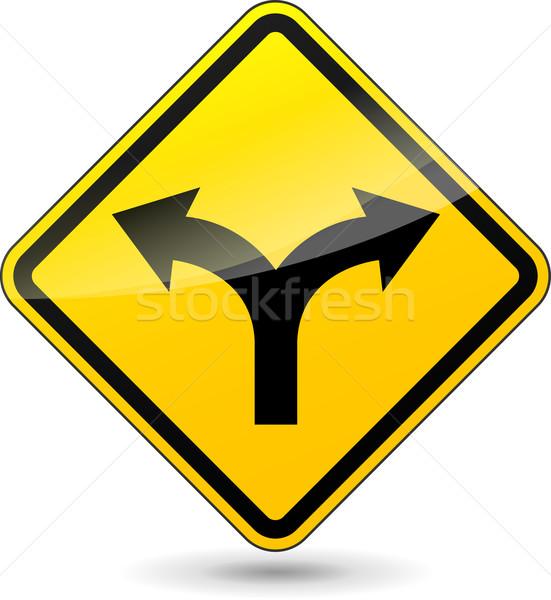 Сток-фото: вектора · два · инструкция · знак · желтый · белый