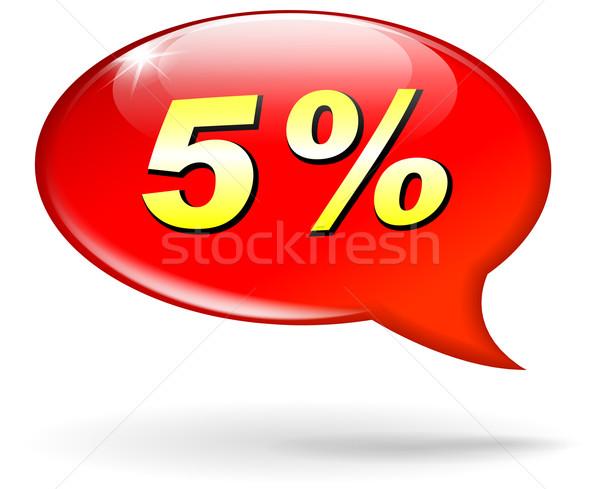 Pourcentage rouge bulle illustration design marketing Photo stock © nickylarson974